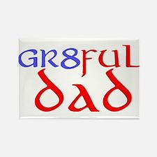 GR8FUL DAD (C) Rectangle Magnet