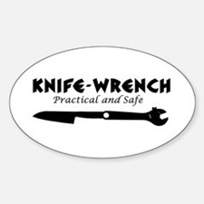 'Knife-Wrench' Sticker (Oval)