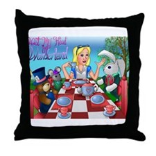 Cute The mad bunny Throw Pillow