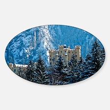 Medieval Castle (Hohenschwang Sticker (Oval)