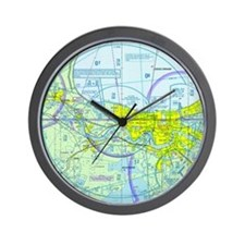 MSY Sectional Chart Wall Clock