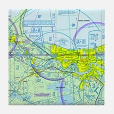 MSY Sectional Chart Tile Coaster