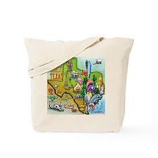 Funny Cartoon map of texas Tote Bag