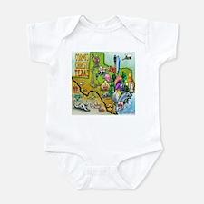Funny Cartoon map of houston texas Infant Bodysuit