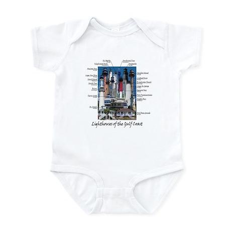 Lighthouses of the Gulf Coast Infant Bodysuit