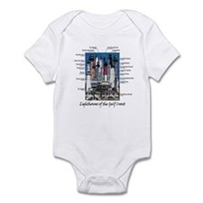Lighthouses of the Gulf Coast Infant Bodysuit