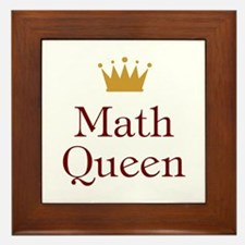 Math Queen Framed Tile
