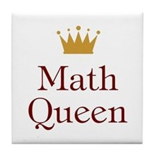 Math Queen Tile Coaster