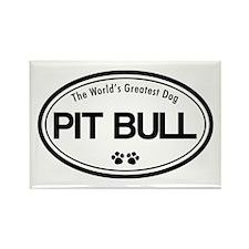 World's Greatest Pit Bull Rectangle Magnet