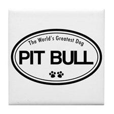 World's Greatest Pit Bull Tile Coaster