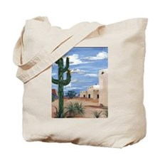 Adobe with Cactus Tote Bag