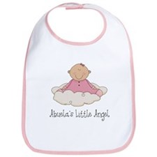 Abuela's Little Angel (Girl) Bib