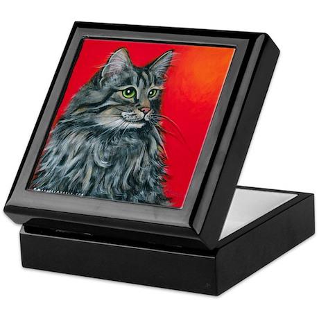 "Maine Coon Cat ""Clancy"" Keepsake Box"