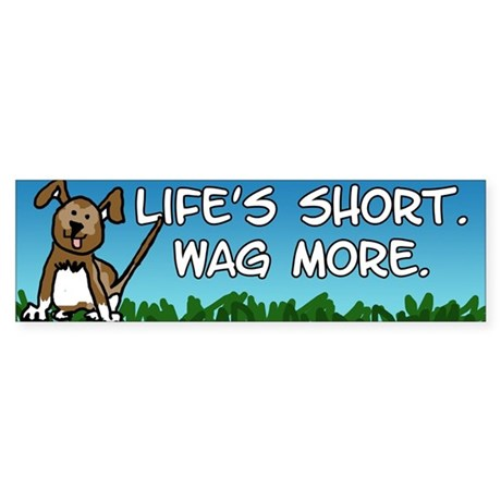Wag More Sticker (Bumper)