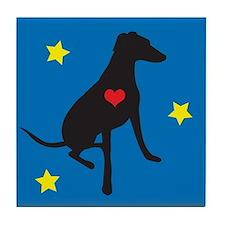 Matisse Greyhoune/whippet/lurcher Tile Coaster