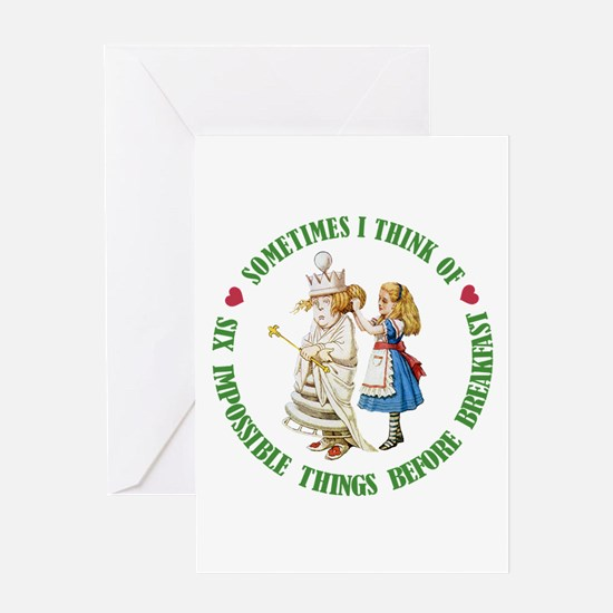 SIX IMPOSSIBLE THINGS Greeting Card