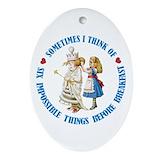 Alice wonderland Oval Ornaments