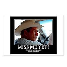 George W Bush Miss me Yet Postcards (Package of 8)