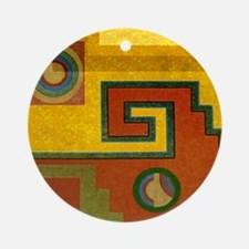 Aztec Design 1 Ornament (Round)