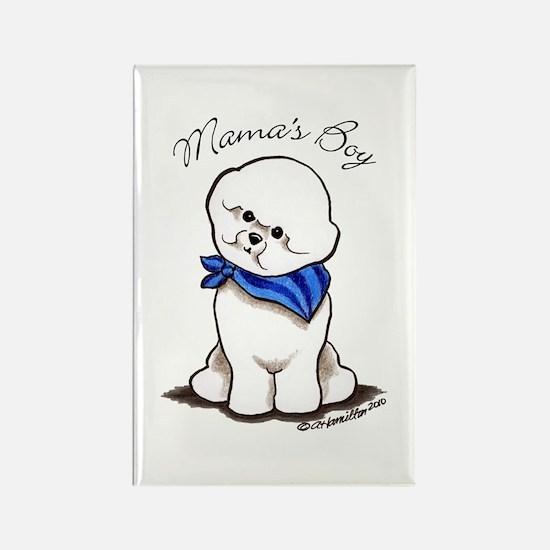 Bichon Mama's Boy Rectangle Magnet (10 pack)