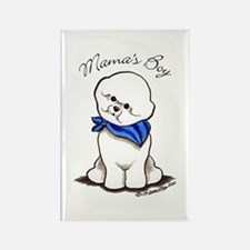 Bichon Mama's Boy Rectangle Magnet (100 pack)