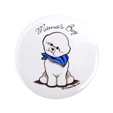 "Bichon Mama's Boy 3.5"" Button"