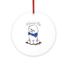 Bichon Mama's Boy Ornament (Round)