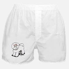 Girly Bichon Frise Boxer Shorts