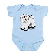 Girly Bichon Frise Infant Bodysuit