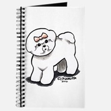 Girly Bichon Frise Journal