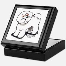 Girly Bichon Frise Keepsake Box