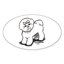 Girly Bichon Frise Decal