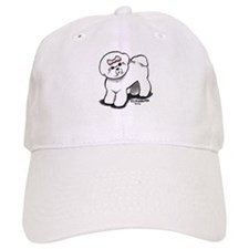 Girly Bichon Frise Baseball Cap
