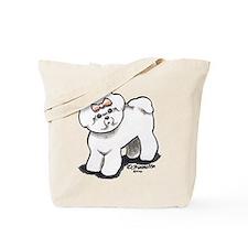 Girly Bichon Frise Tote Bag