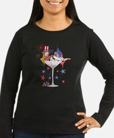 4th of July Martini Girl T-Shirt