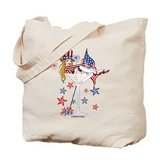 4th of July Martini Girl Tote Bag