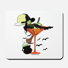 Halloween Martini Girl Mousepad