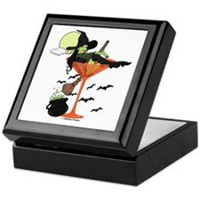 Halloween Martini Girl Keepsake Box