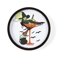 Halloween Martini Girl Wall Clock