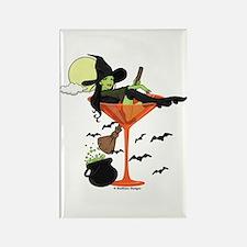 Halloween Martini Girl Rectangle Magnet