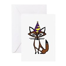 party fox Greeting Cards (Pk of 20)
