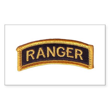 Ranger Tab Black & Gold Sticker (Rectangle)