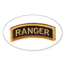 Ranger Tab Black & Gold Decal