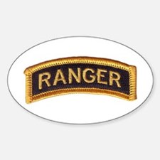 Ranger Tab Black & Gold Decal