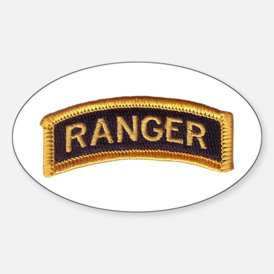 Ranger Tab Black & Gold Sticker (Oval)