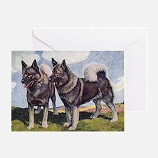 Norwegian Elkhound Greeting Card