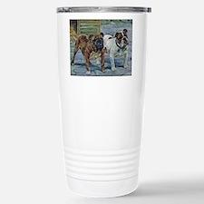Bulldog Art Stainless Steel Travel Mug