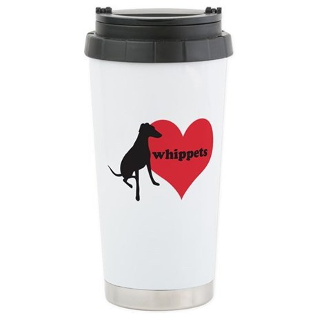 Whippet Love - Stainless Steel Travel Mug