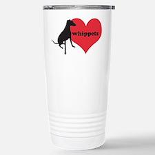Whippet Love - Stainless Steel Travel Mug