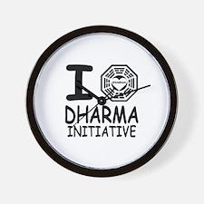 I Love Dharma Initiative Wall Clock